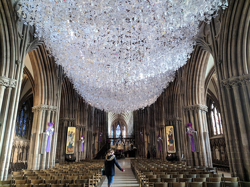 A visit to Lichfield Cathedral on our return to the UK